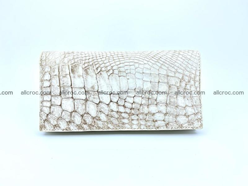 bifold long wallet from genuine crocodile skin 494