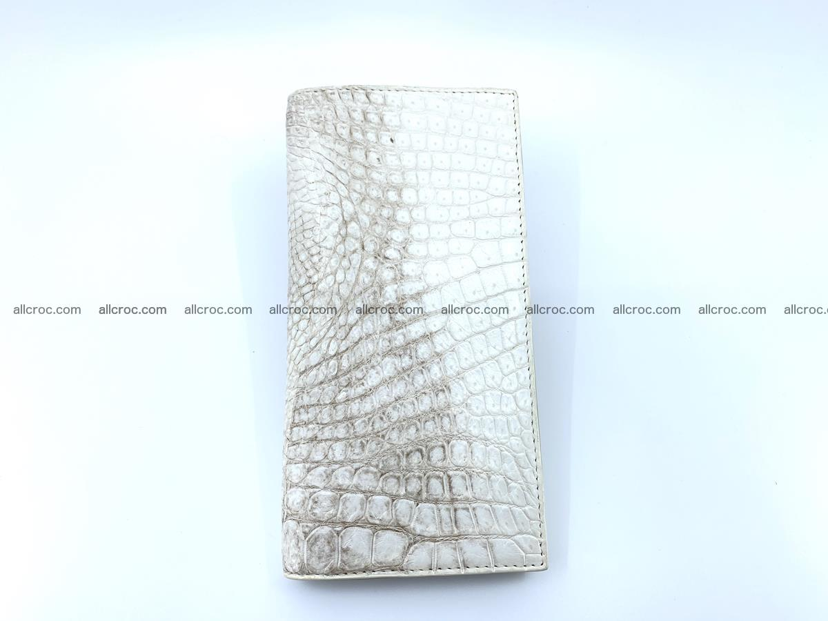 bifold long wallet from genuine crocodile skin 494 Foto 6