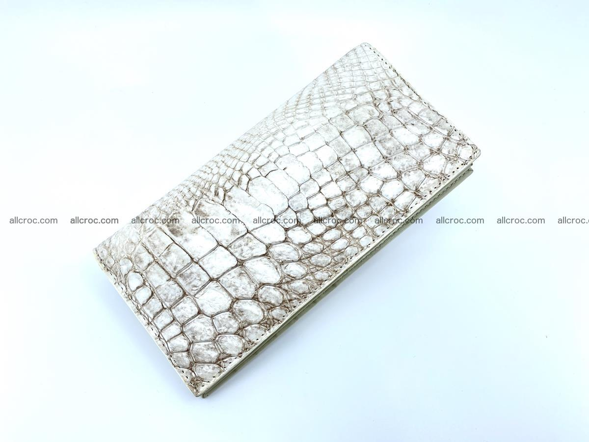 bifold long wallet from genuine crocodile skin 494 Foto 3