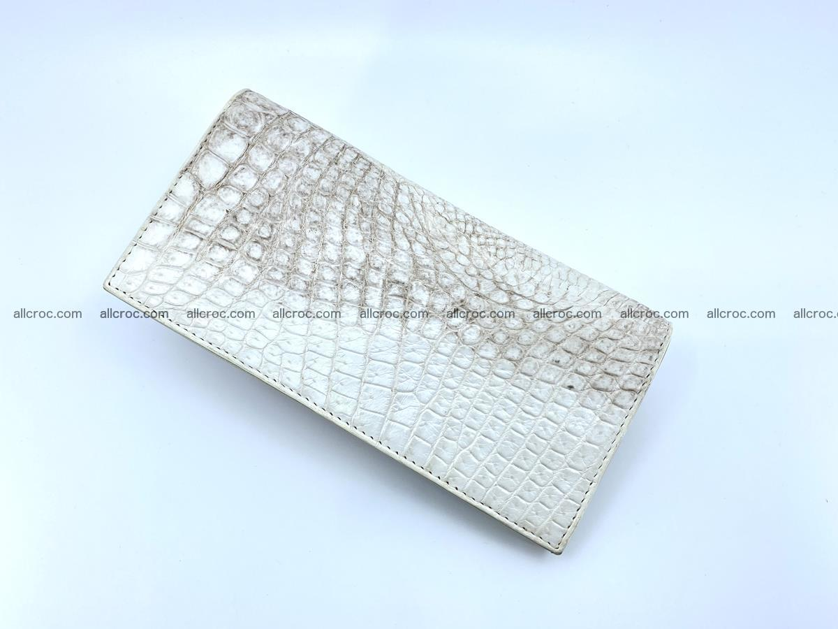 bifold long wallet from genuine crocodile skin 494 Foto 4