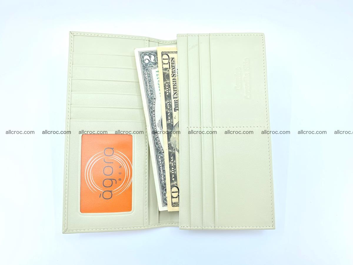 bifold long wallet from genuine crocodile skin 494 Foto 12