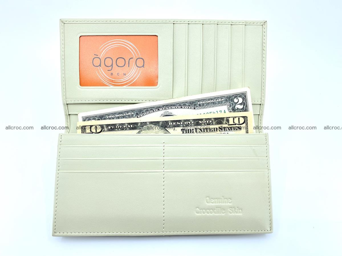 bifold long wallet from genuine crocodile skin 494 Foto 10