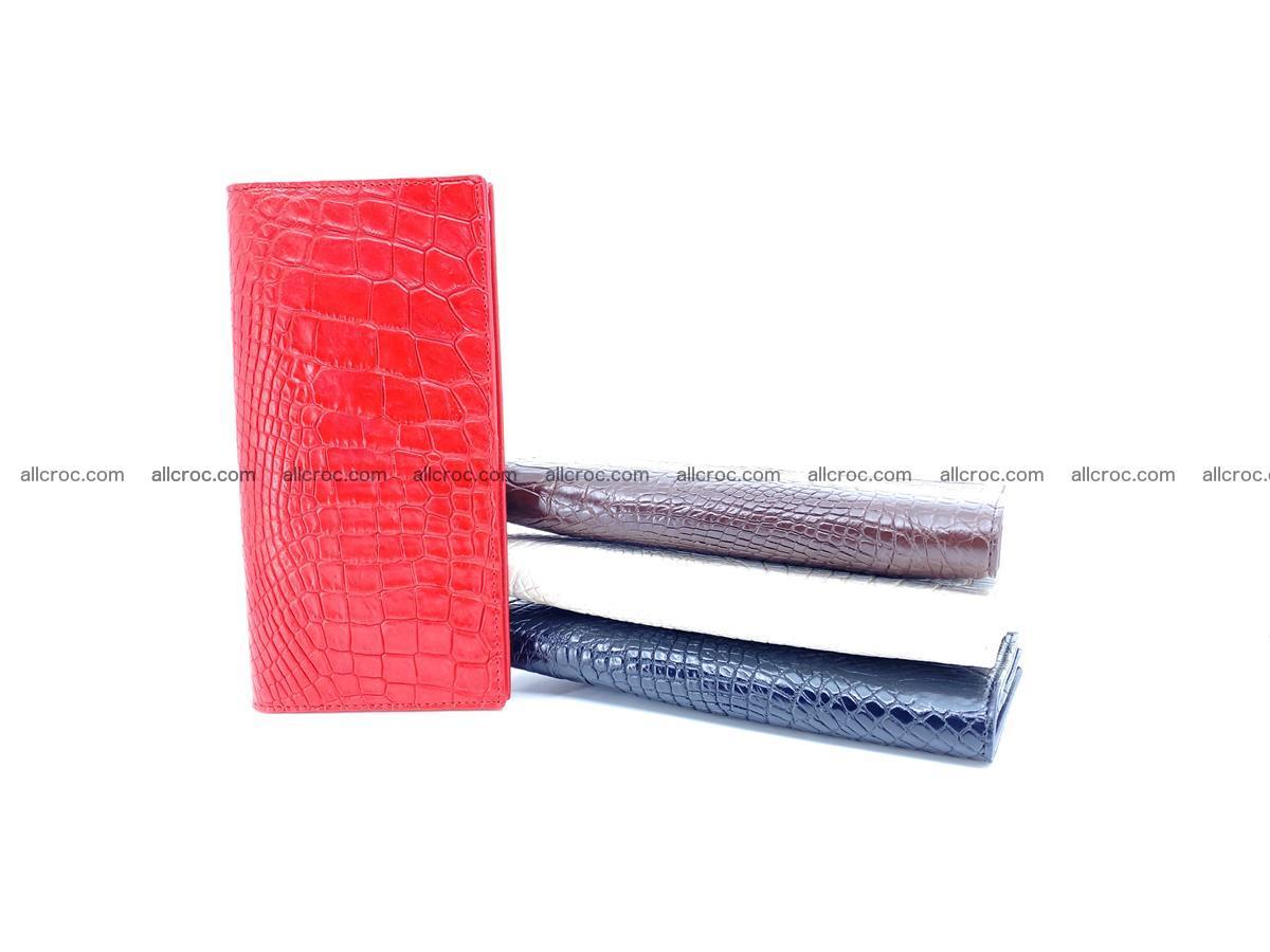 bifold long wallet from genuine crocodile skin 493 Foto 13
