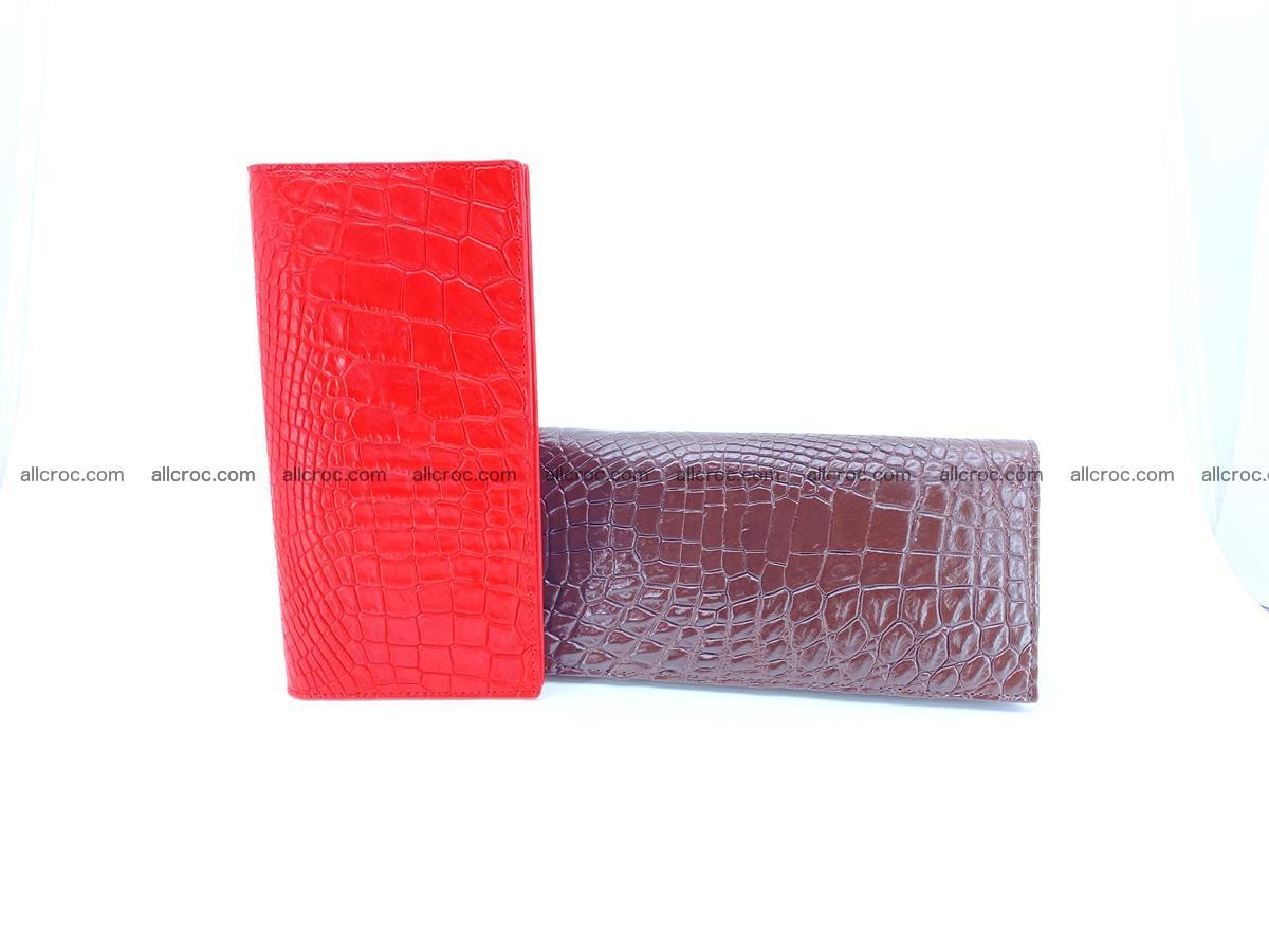 bifold long wallet from genuine crocodile skin 493 Foto 15