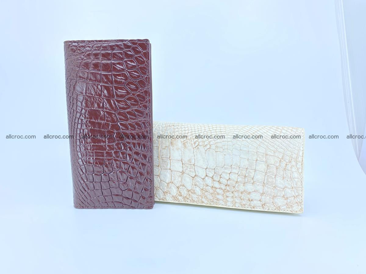 bifold long wallet from genuine crocodile skin 489 Foto 15