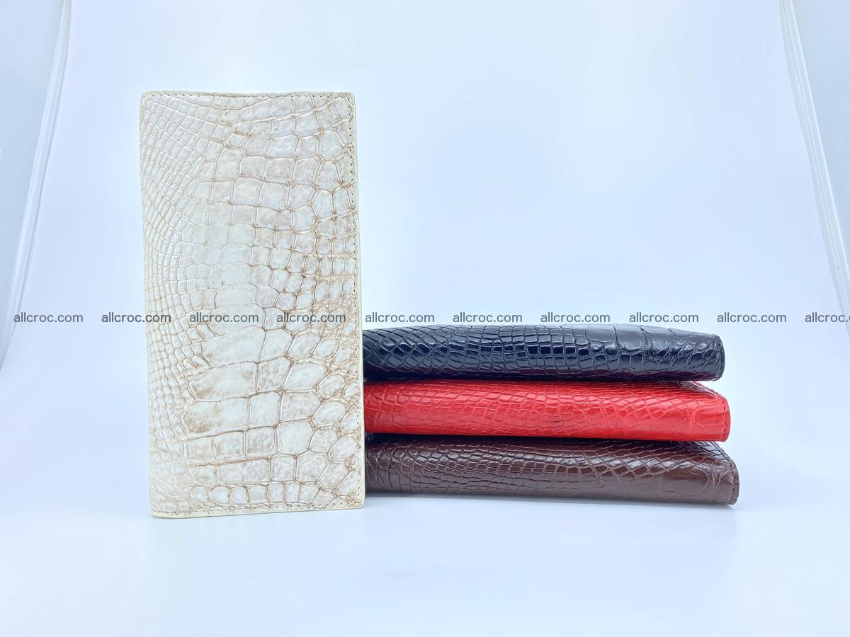 bifold long wallet from genuine crocodile skin 494 Foto 13