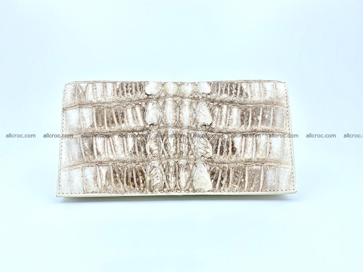 bifold long wallet from genuine crocodile skin 496 Foto 2