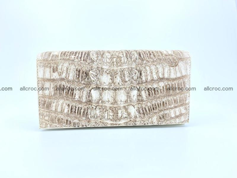 bifold long wallet from genuine crocodile skin 496