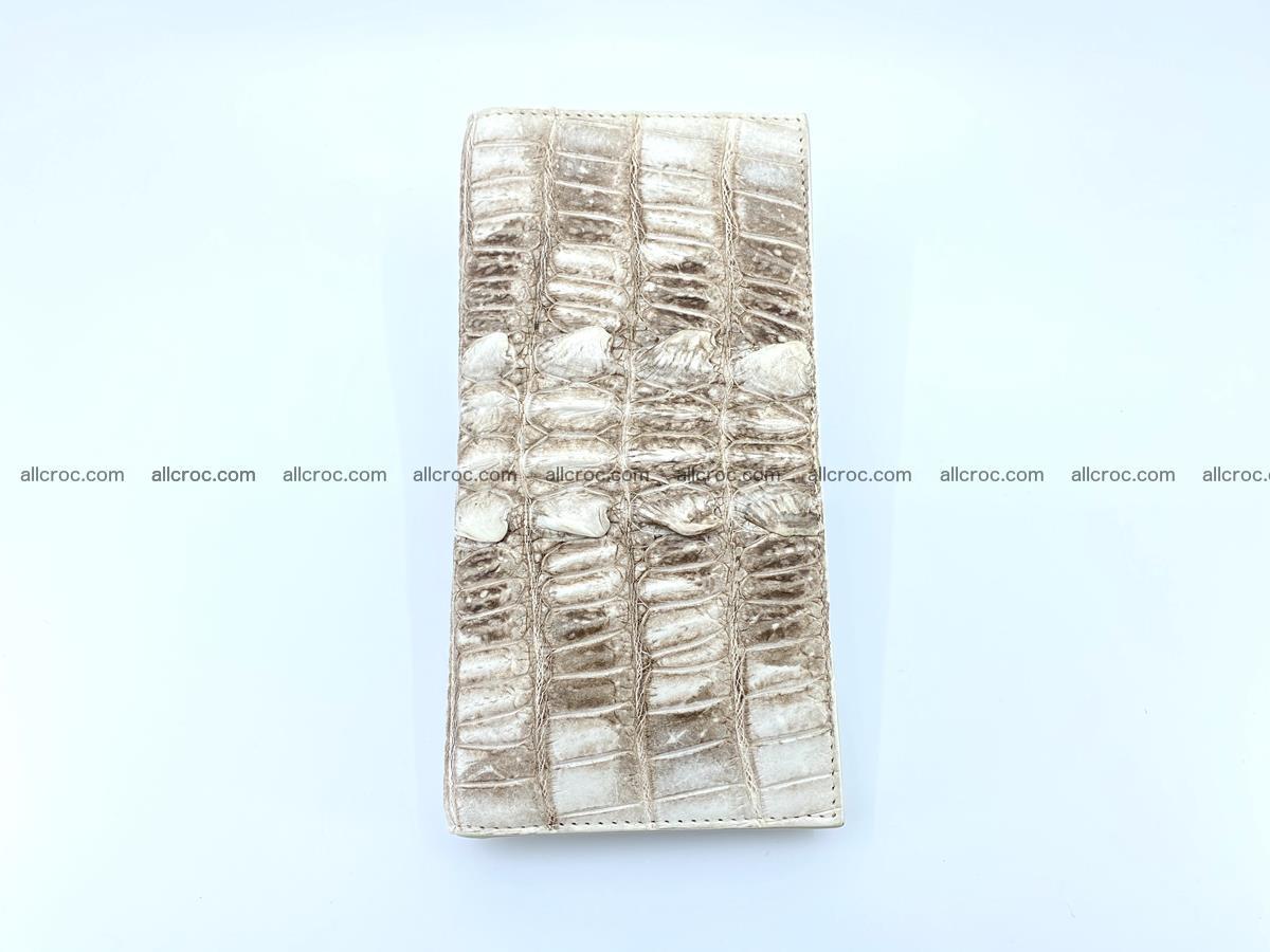 bifold long wallet from genuine crocodile skin 496 Foto 6