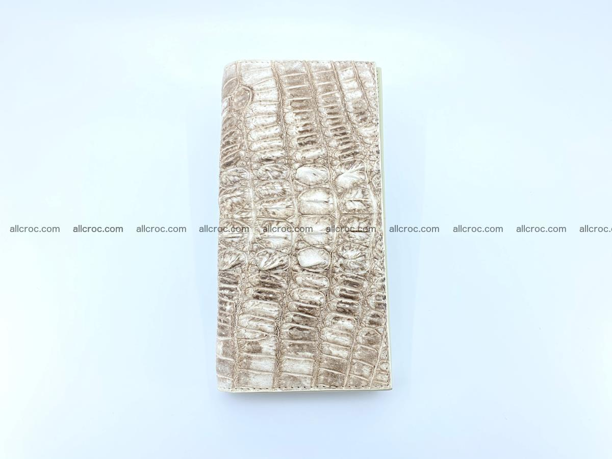 bifold long wallet from genuine crocodile skin 496 Foto 7
