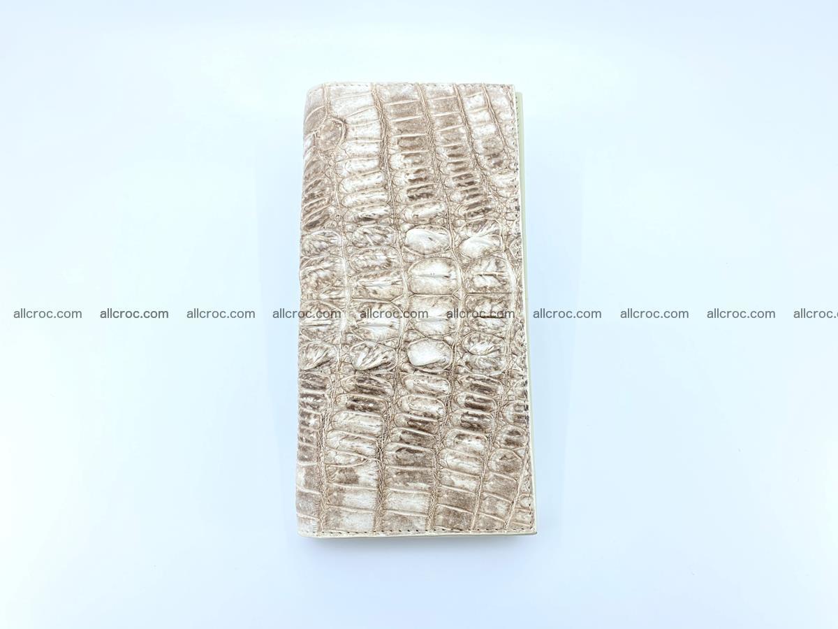 bifold long wallet from genuine crocodile skin 496 Foto 7