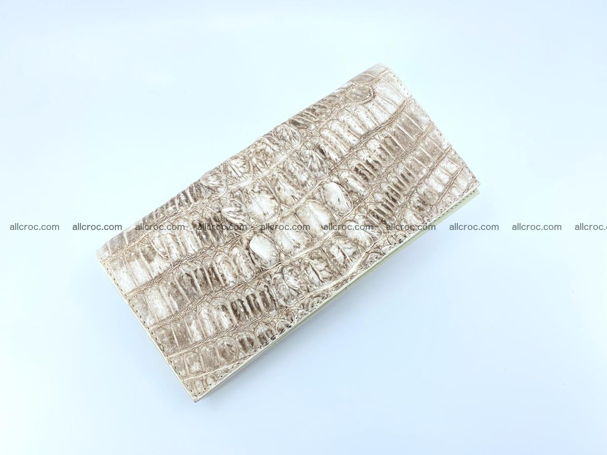 bifold long wallet from genuine crocodile skin 496 Foto 4