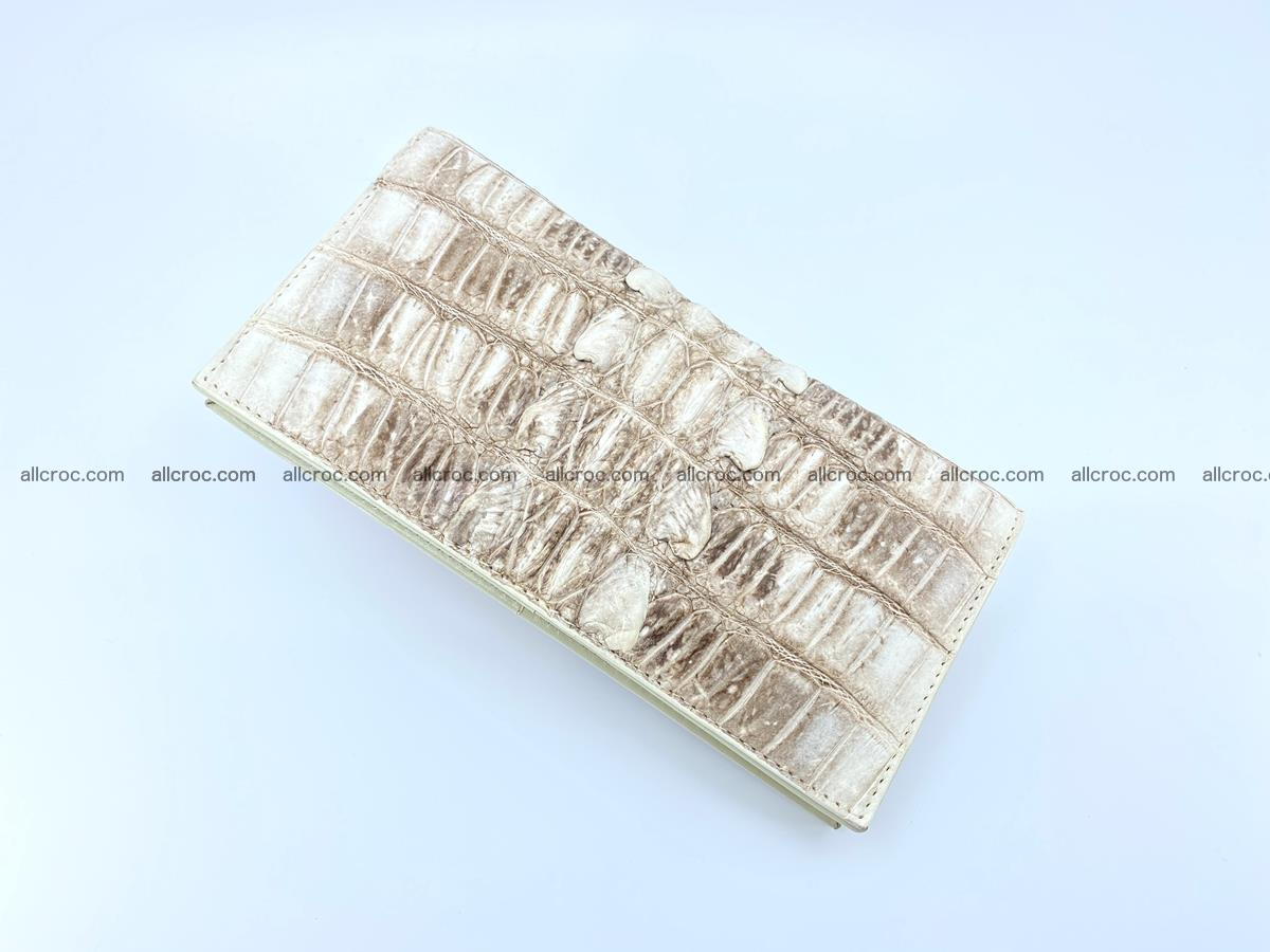 bifold long wallet from genuine crocodile skin 496 Foto 5