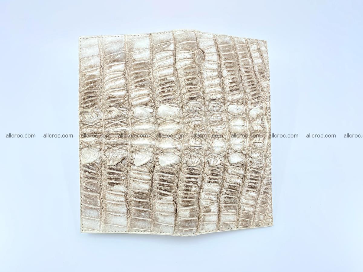 bifold long wallet from genuine crocodile skin 496 Foto 9