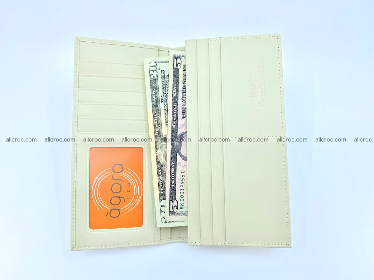 bifold long wallet from genuine crocodile skin 496 Foto 12