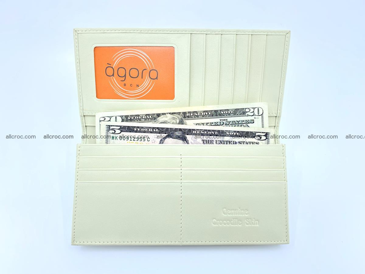 bifold long wallet from genuine crocodile skin 496 Foto 13