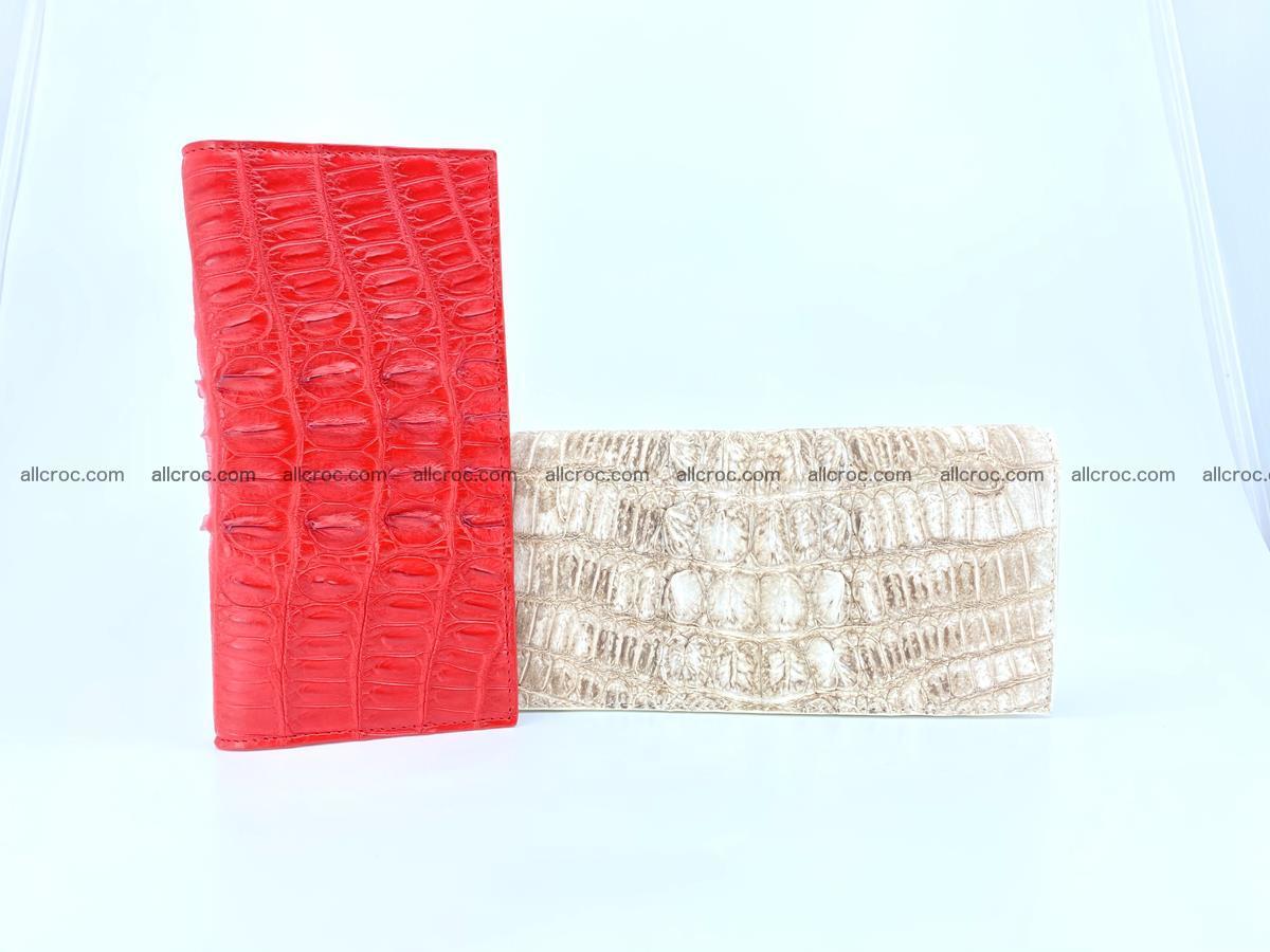 bifold long wallet from genuine crocodile skin 496 Foto 17