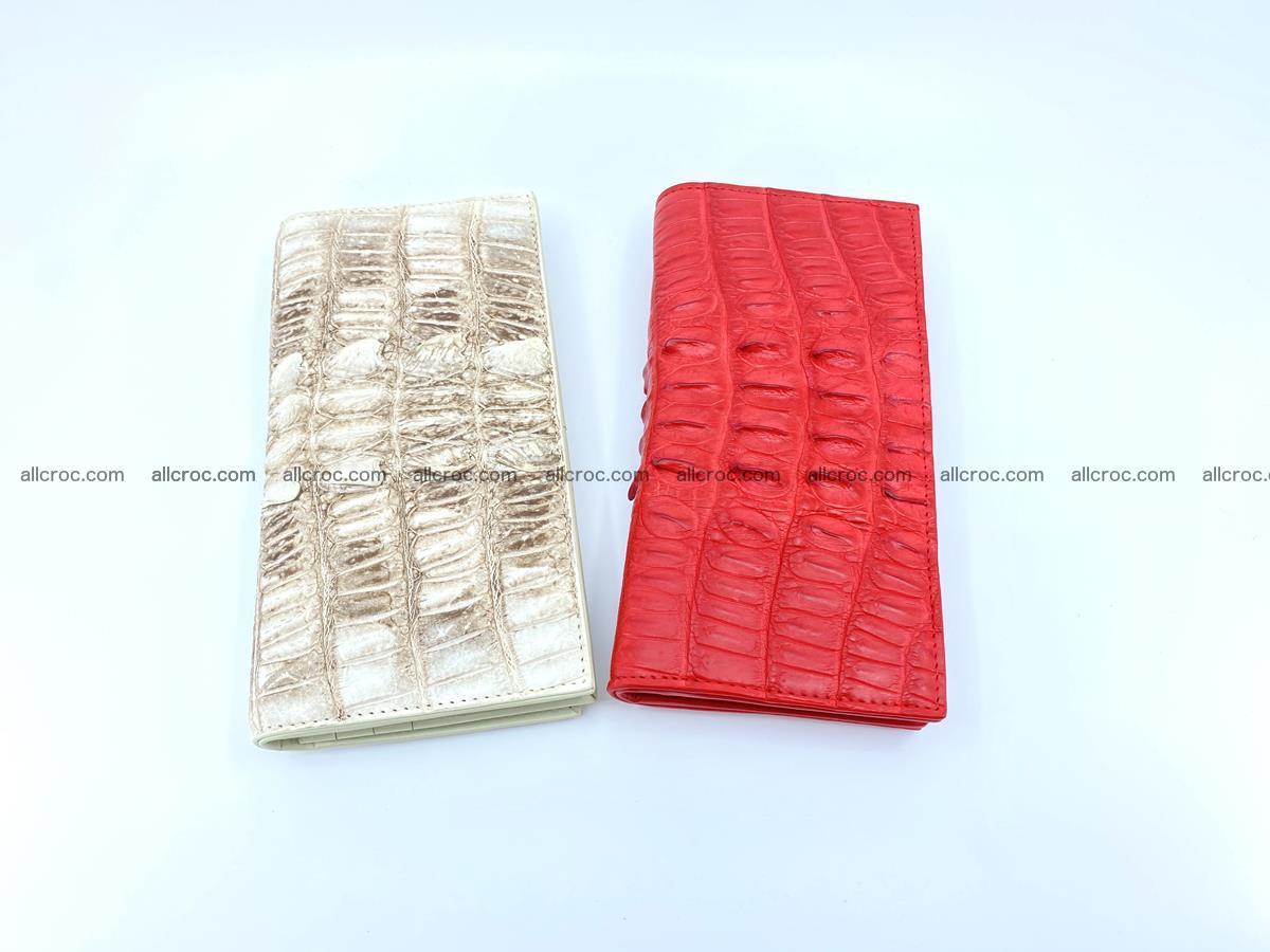 bifold long wallet from genuine crocodile skin 496 Foto 15