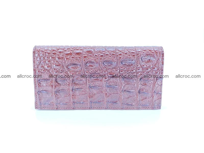 Bifold Long wallet from genuine crocodile skin, hornback crocodile leather wallet 488