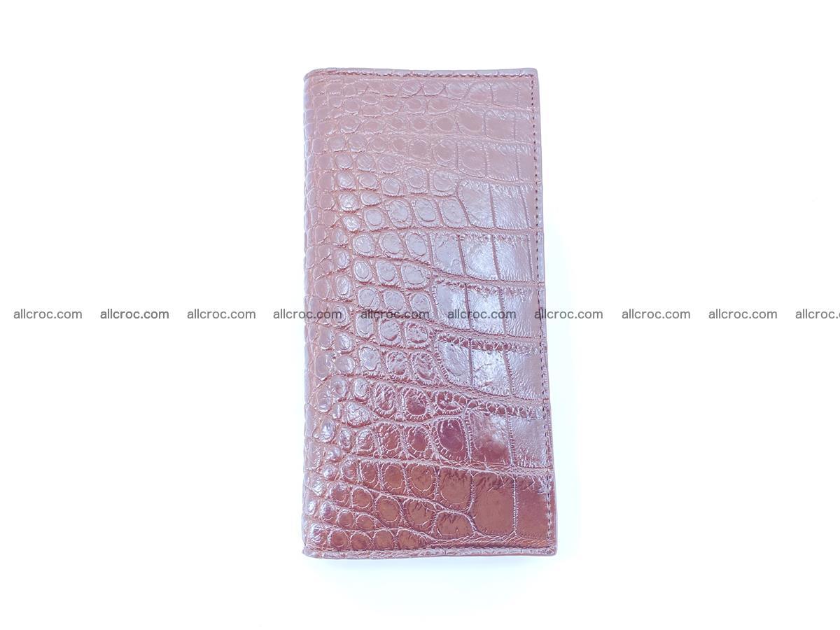 Crocodile skin long wallet 488 Foto 7