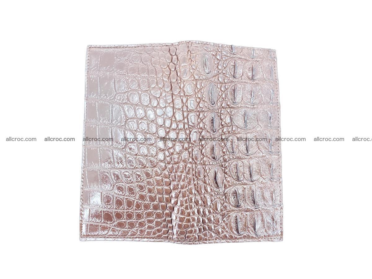 Crocodile skin long wallet 488 Foto 8