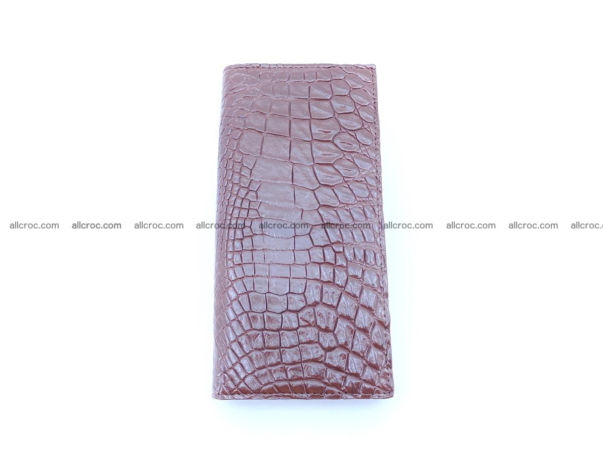bifold long wallet from genuine crocodile skin 489 Foto 3