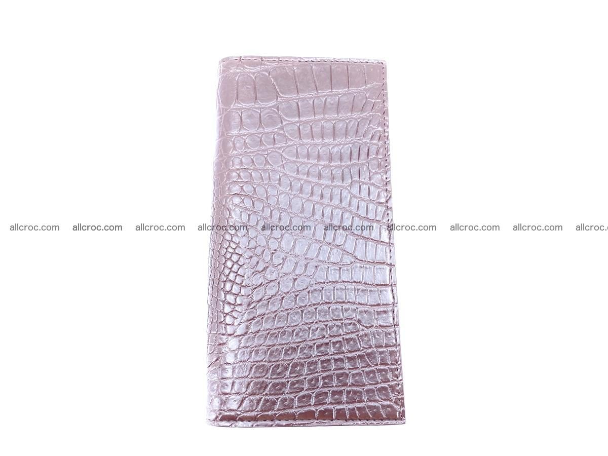 bifold long wallet from genuine crocodile skin 489 Foto 4