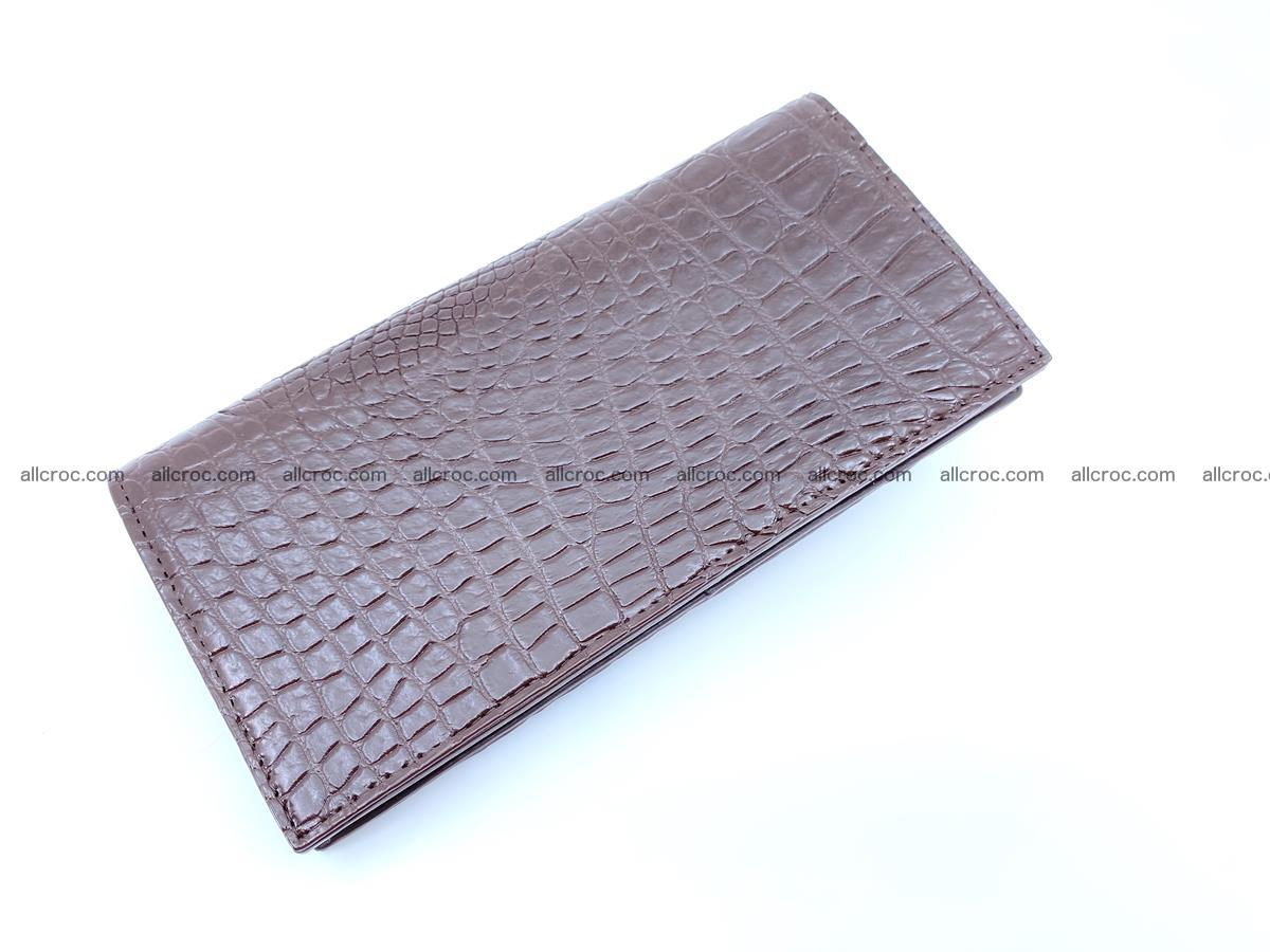 bifold long wallet from genuine crocodile skin 489 Foto 5