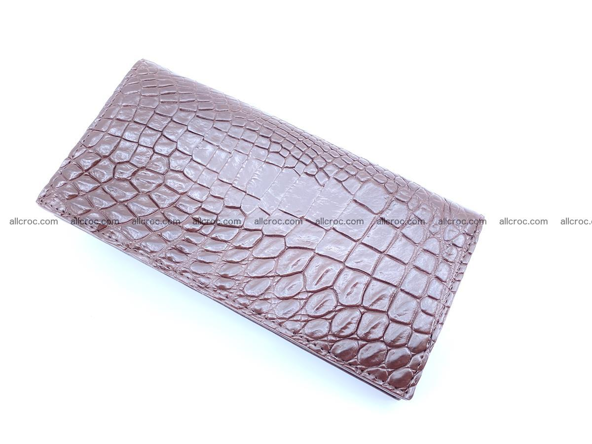 bifold long wallet from genuine crocodile skin 489 Foto 6