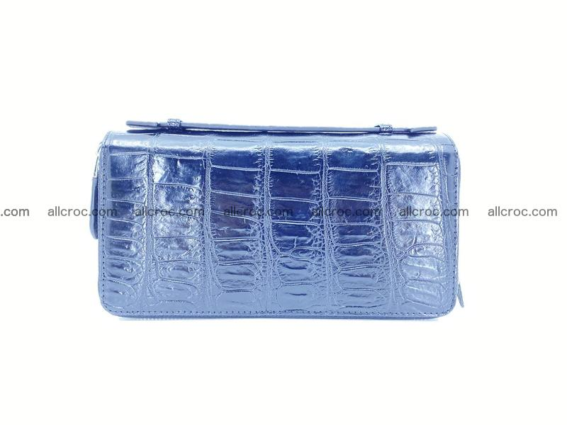 Crocodile skin wallet 2 zips 917
