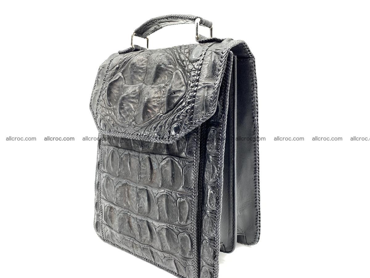 Crocodile leather handbag for men 900 Foto 7