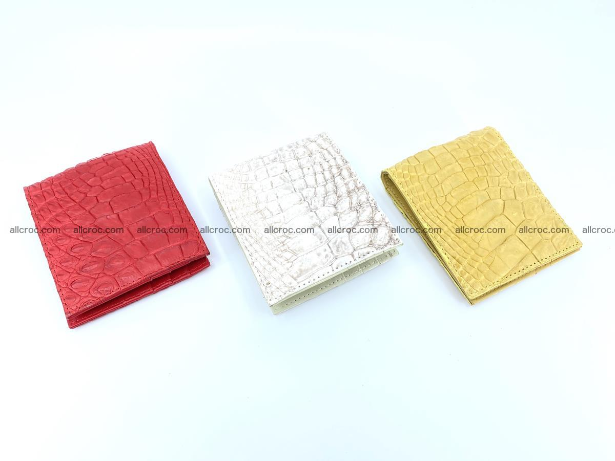 Crocodile leather money clip 936 Foto 6