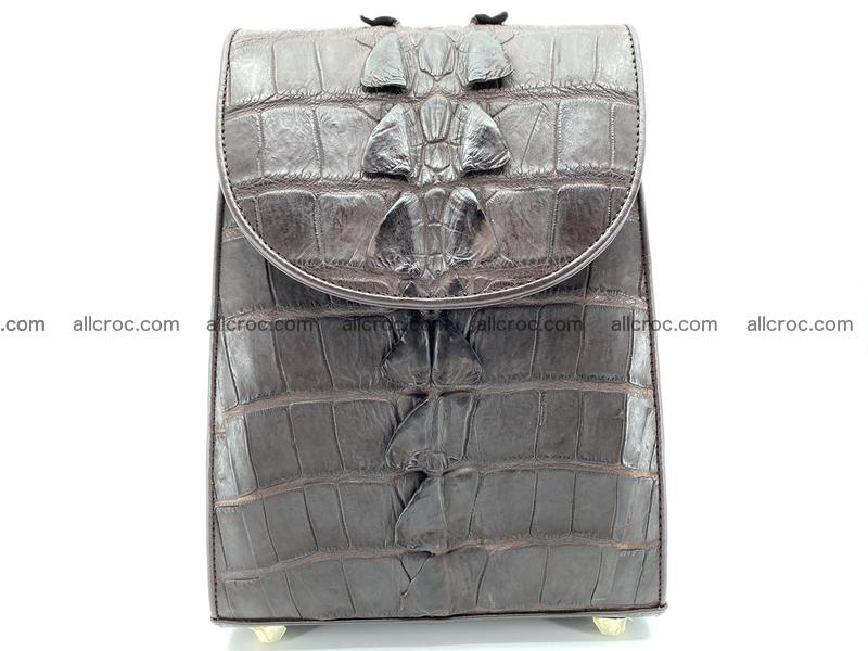Crocodile skin backpack 893