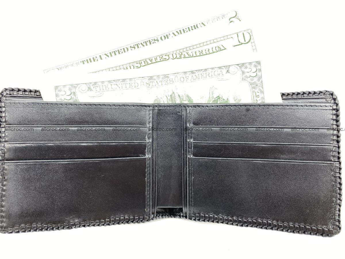 Crocodile skin bifold wallet tail part with braided trim 909 Foto 4