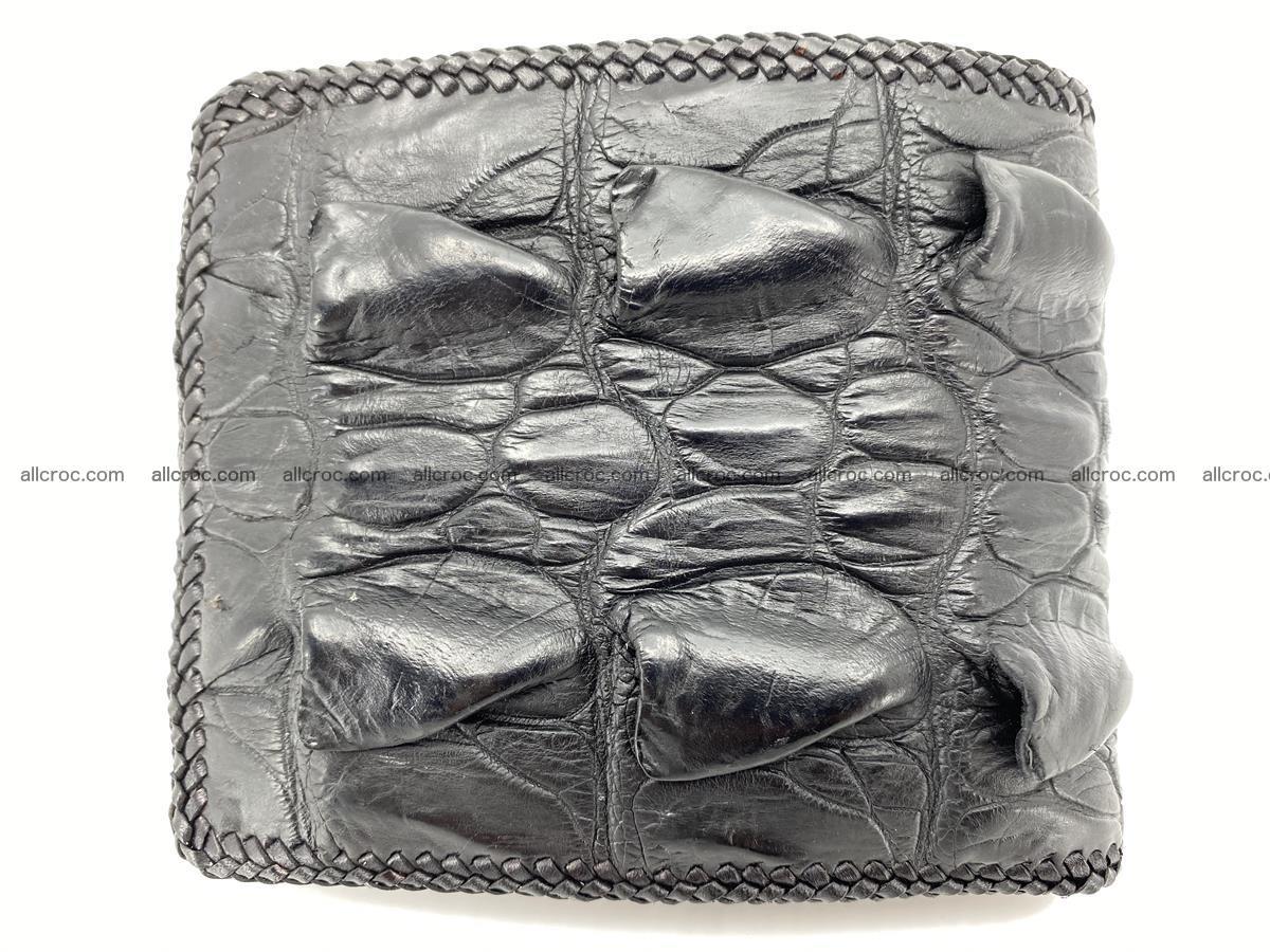 Crocodile skin bifold wallet tail part with braided trim 905 Foto 1