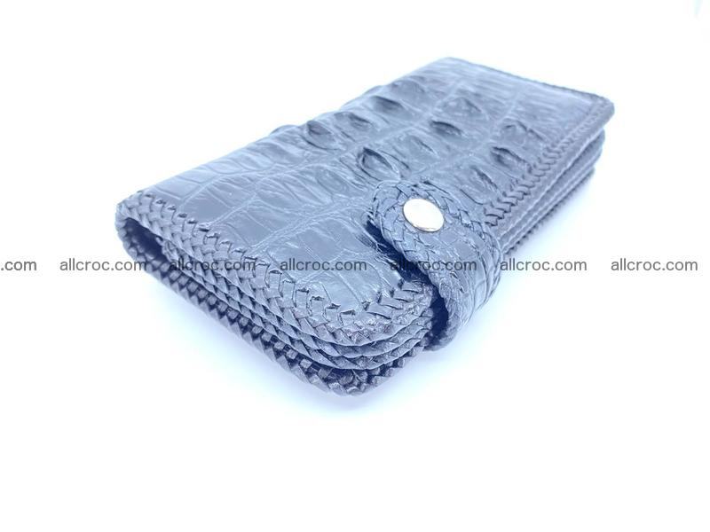 Crocodile skin biker wallet 1014