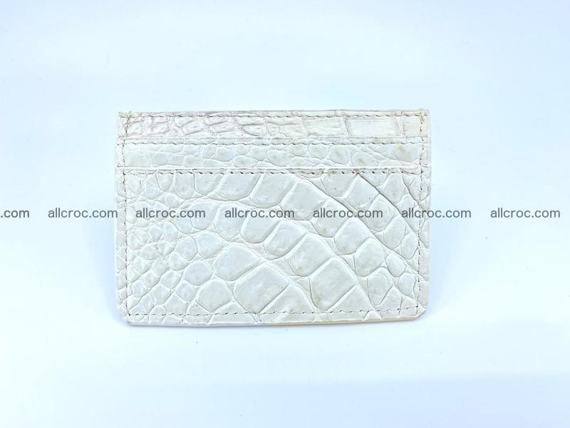 Crocodile skin card holder 996