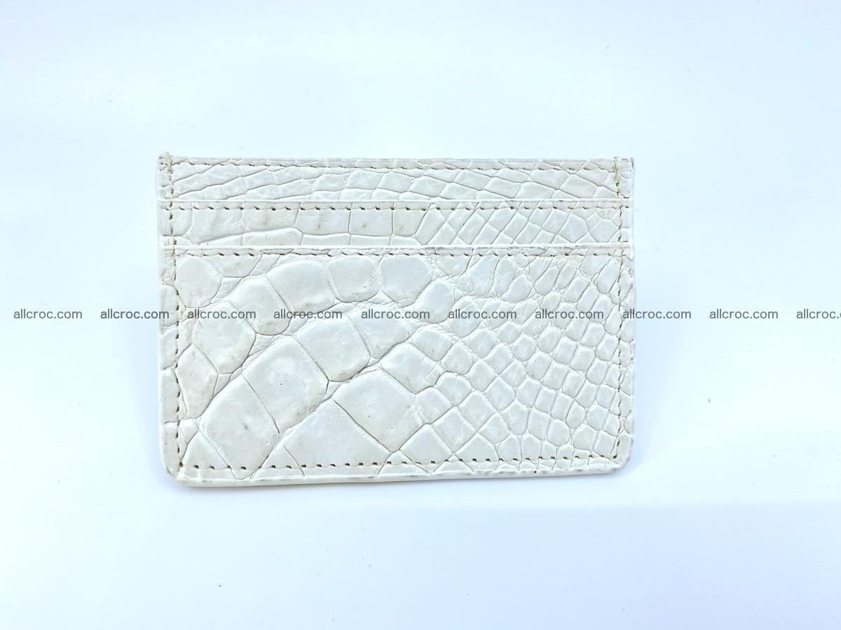 Crocodile skin card holder 996 Foto 1