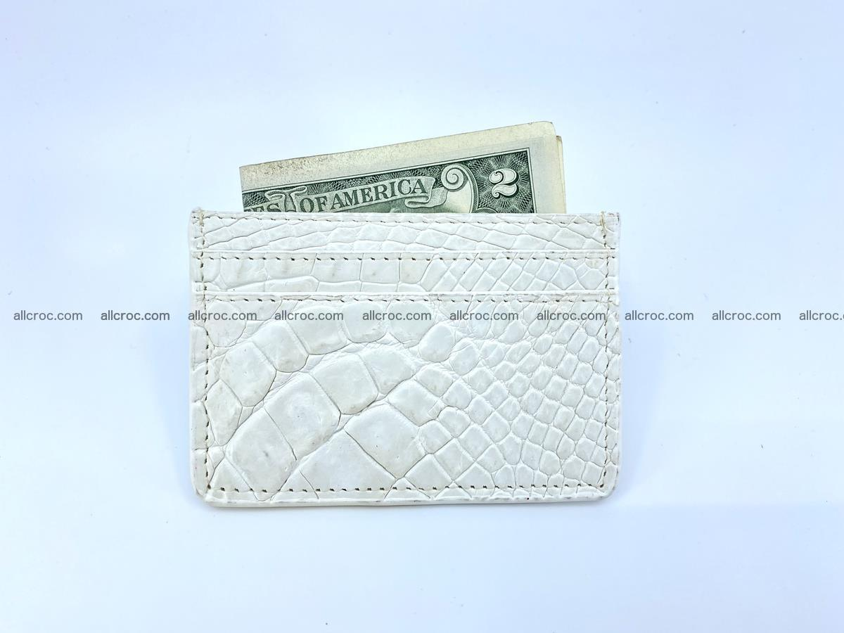 Crocodile skin card holder 996 Foto 2