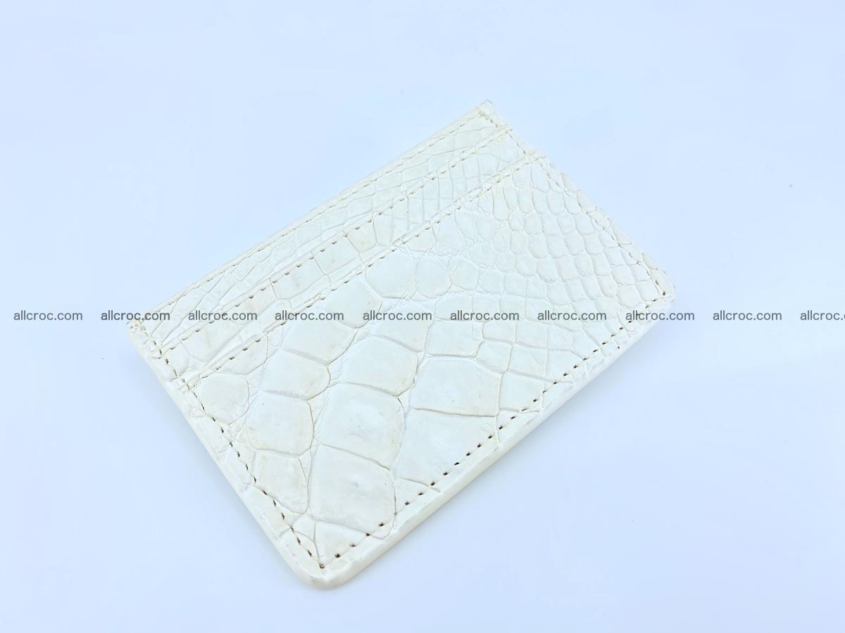 Crocodile skin card holder 996 Foto 0
