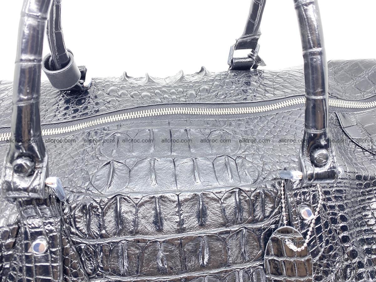 Crocodile skin duffle bag 916 Foto 5