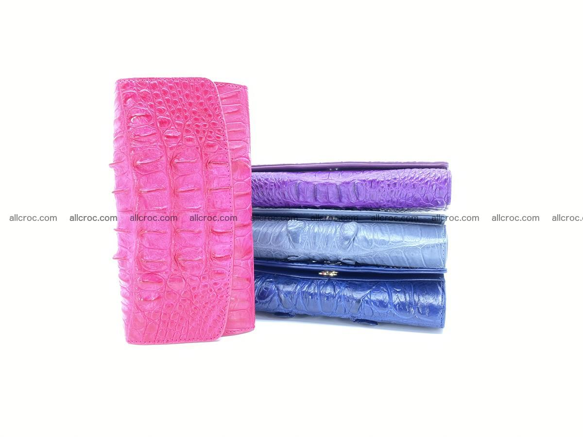 Crocodile skin long womens wallet 1017 Foto 10