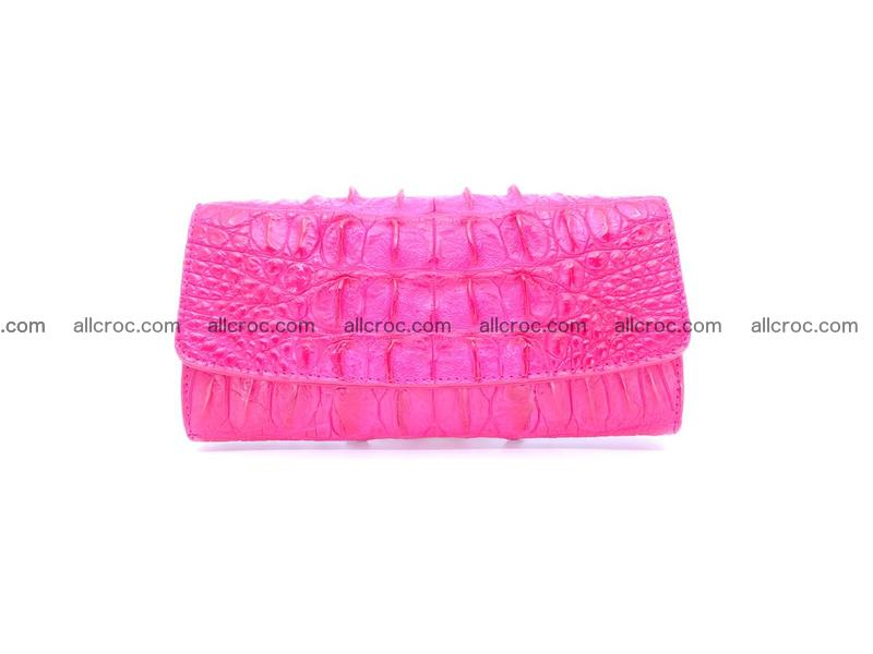Crocodile skin long womens wallet 1017