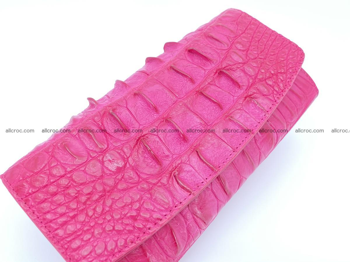 Crocodile skin long womens wallet 1017 Foto 3