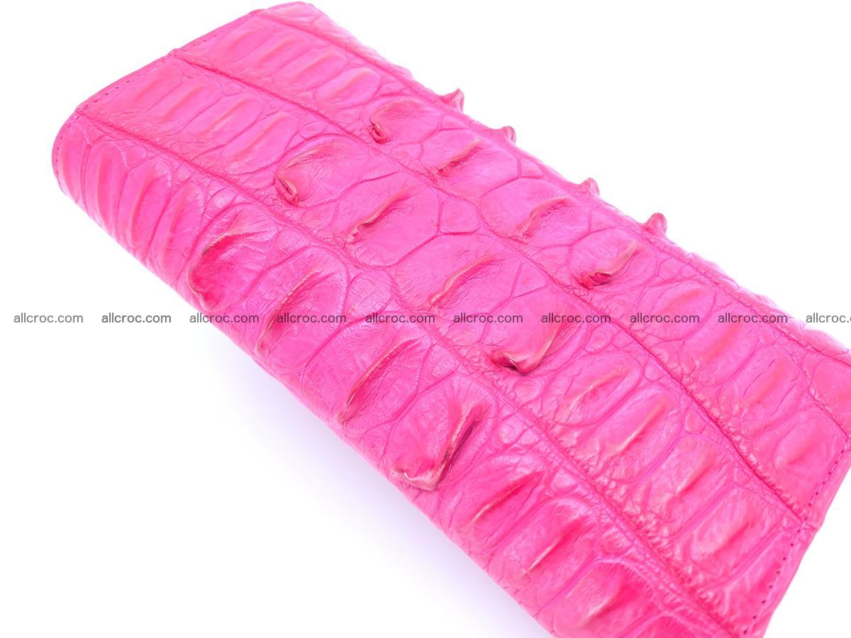 Crocodile skin long womens wallet 1017 Foto 5