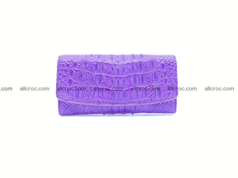 Crocodile skin long womens wallet 1018