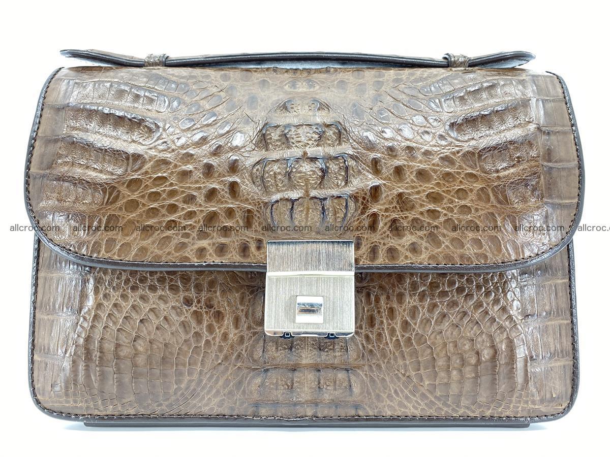 Crocodile skin men's handbag 915 Foto 12