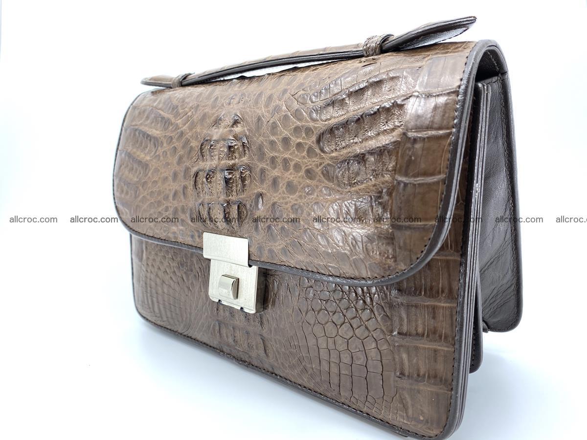 Crocodile skin men's handbag 915 Foto 2
