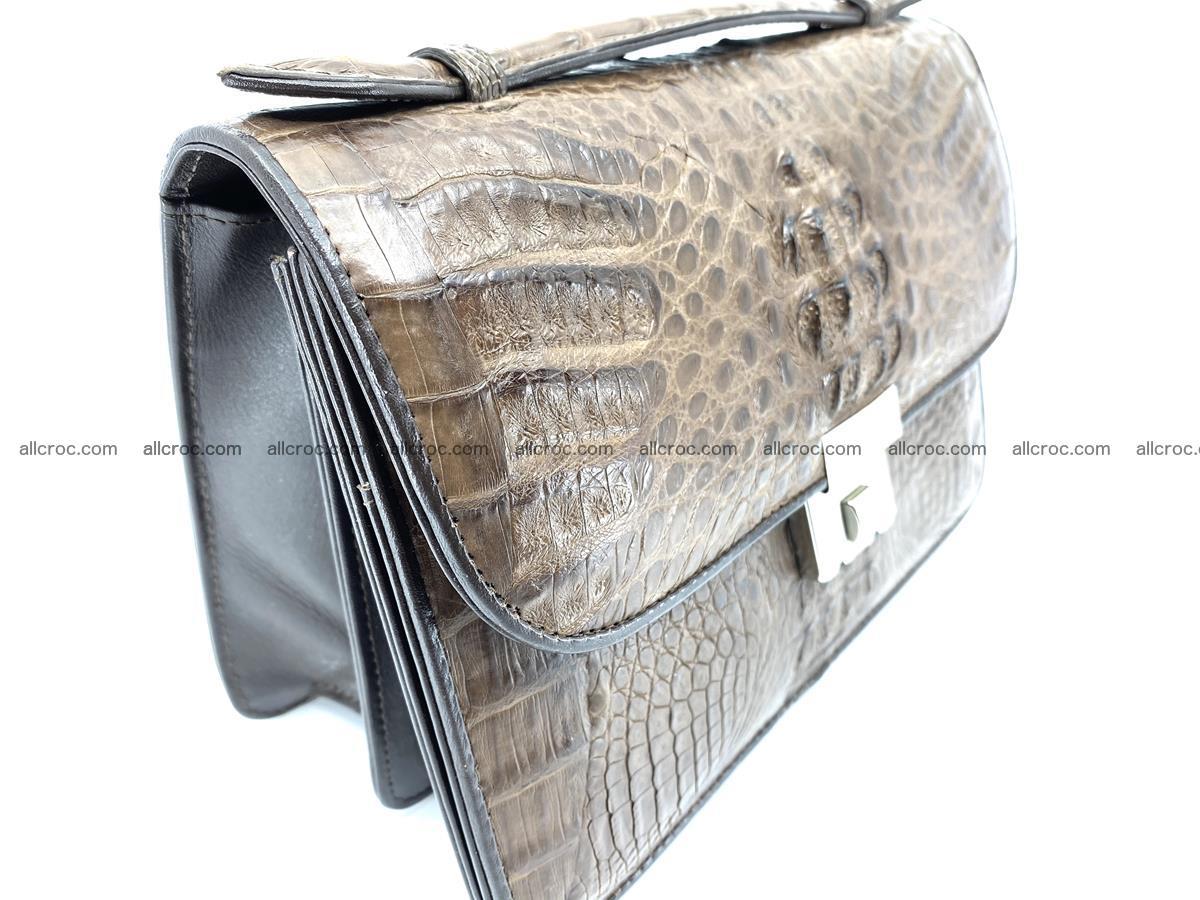 Crocodile skin men's handbag 915 Foto 4
