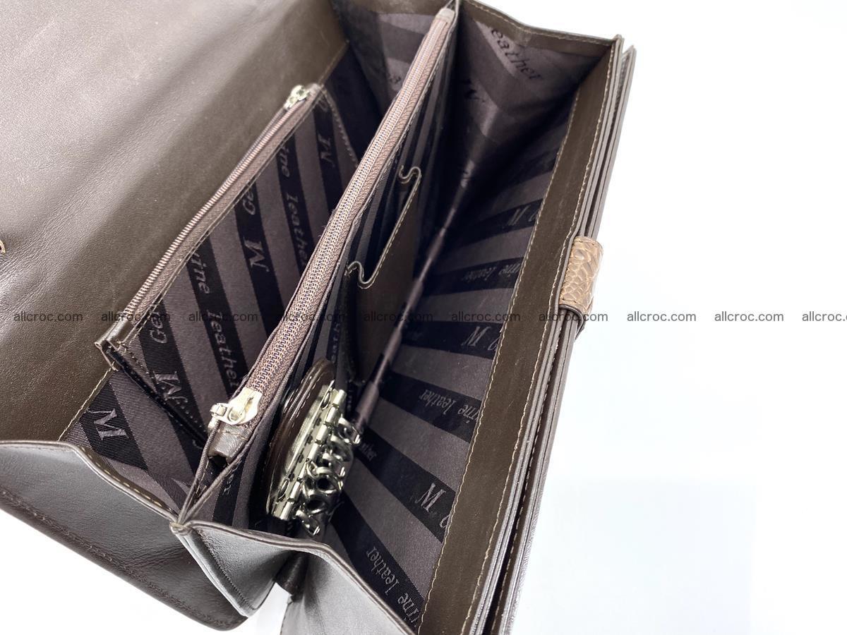 Crocodile skin men's handbag 915 Foto 9
